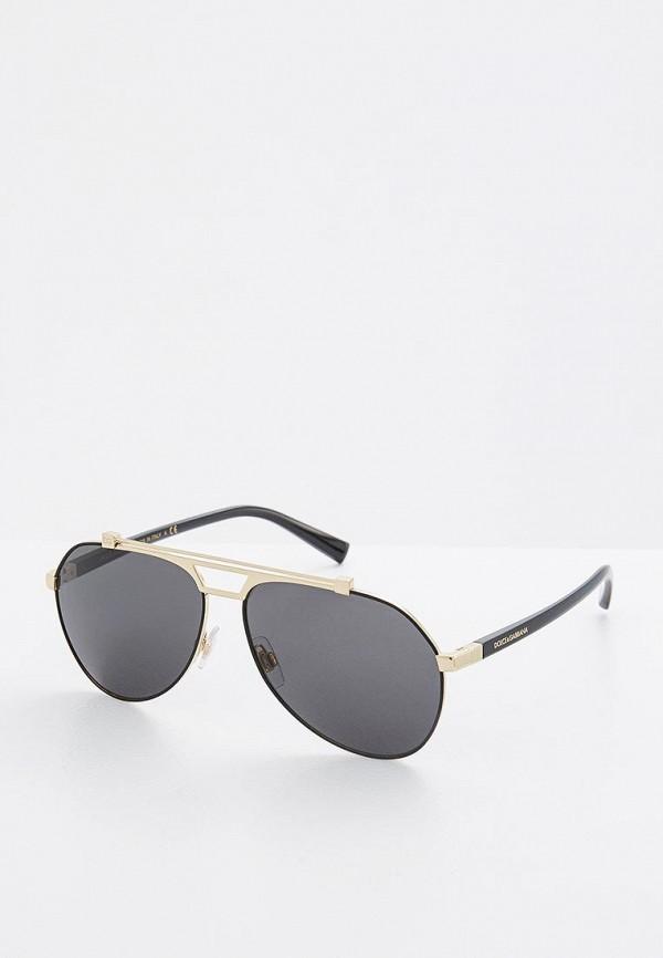 Купить Очки солнцезащитные Dolce&Gabbana золотого цвета