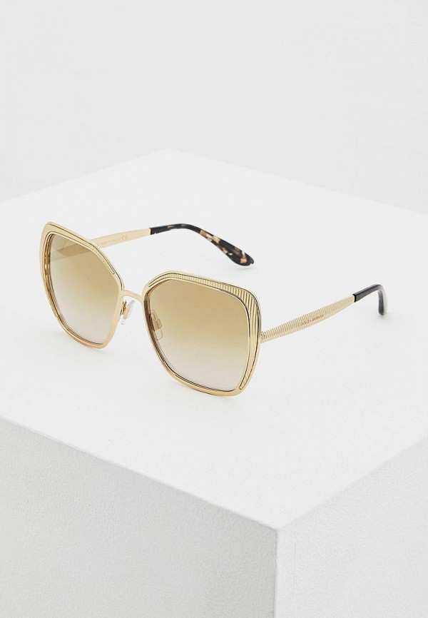 женские солнцезащитные очки dolce & gabbana, золотые