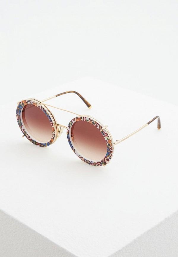 женские солнцезащитные очки dolce & gabbana, разноцветные