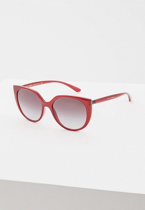 женские солнцезащитные очки dolce & gabbana, бордовые