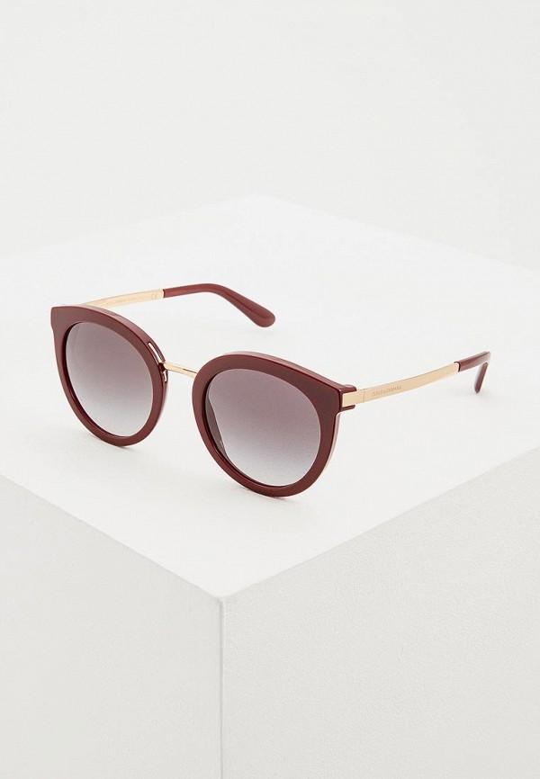 Купить Очки солнцезащитные Dolce&Gabbana, do260dwdbqv1, бордовый, Весна-лето 2019