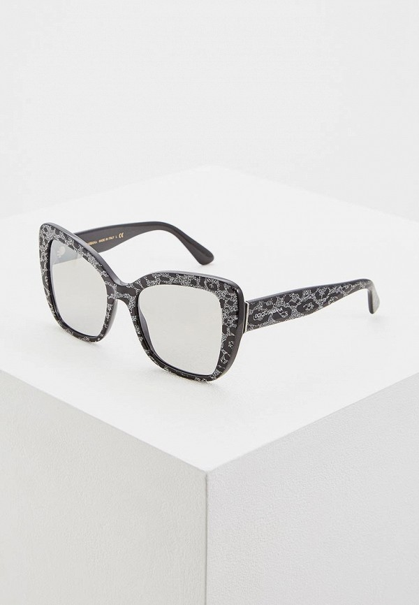 женские солнцезащитные очки dolce & gabbana, черные