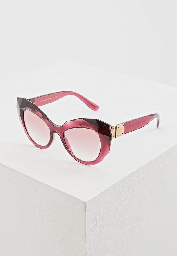 женские солнцезащитные очки кошачьи глаза dolce & gabbana, фиолетовые