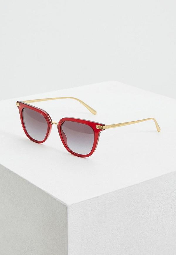 женские солнцезащитные очки dolce & gabbana, красные