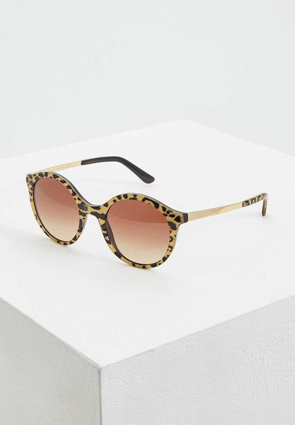 женские солнцезащитные очки dolce & gabbana, желтые