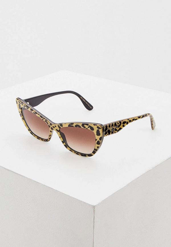 женские солнцезащитные очки кошачьи глаза dolce & gabbana, золотые