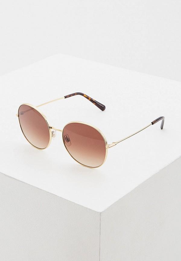 женские круглые солнцезащитные очки dolce & gabbana, золотые