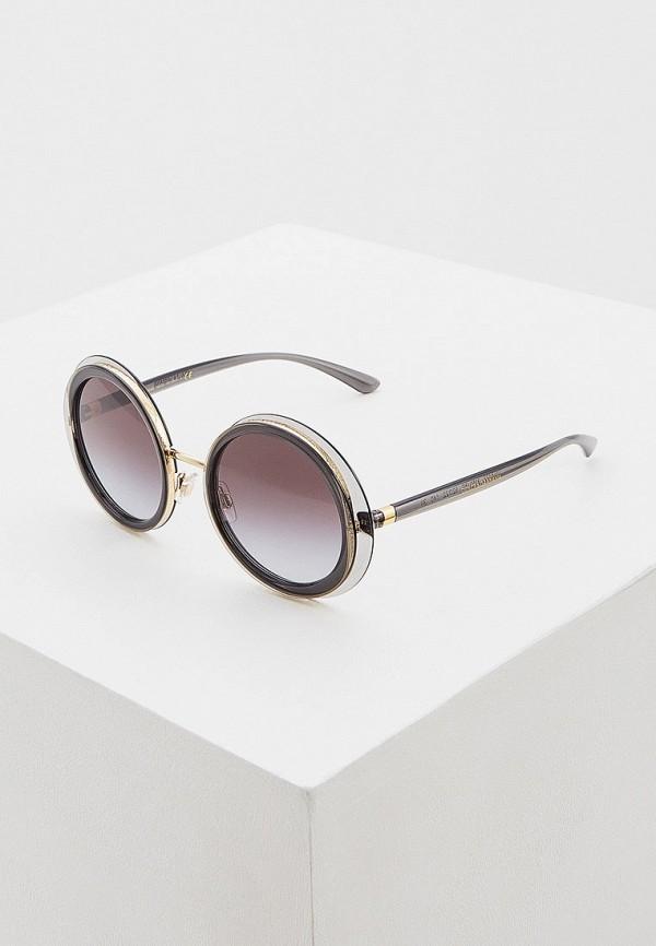 женские круглые солнцезащитные очки dolce & gabbana, серые
