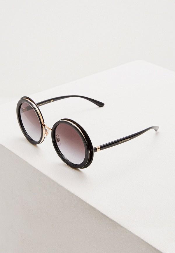 женские круглые солнцезащитные очки dolce & gabbana, черные