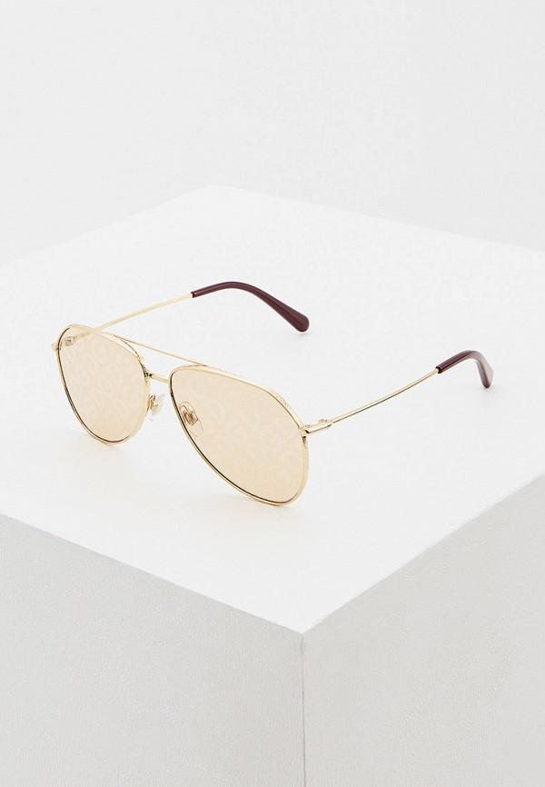 женские авиаторы солнцезащитные очки dolce & gabbana, золотые