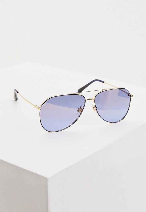 женские авиаторы солнцезащитные очки dolce & gabbana, синие