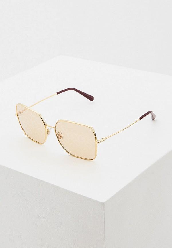женские квадратные солнцезащитные очки dolce & gabbana, коричневые