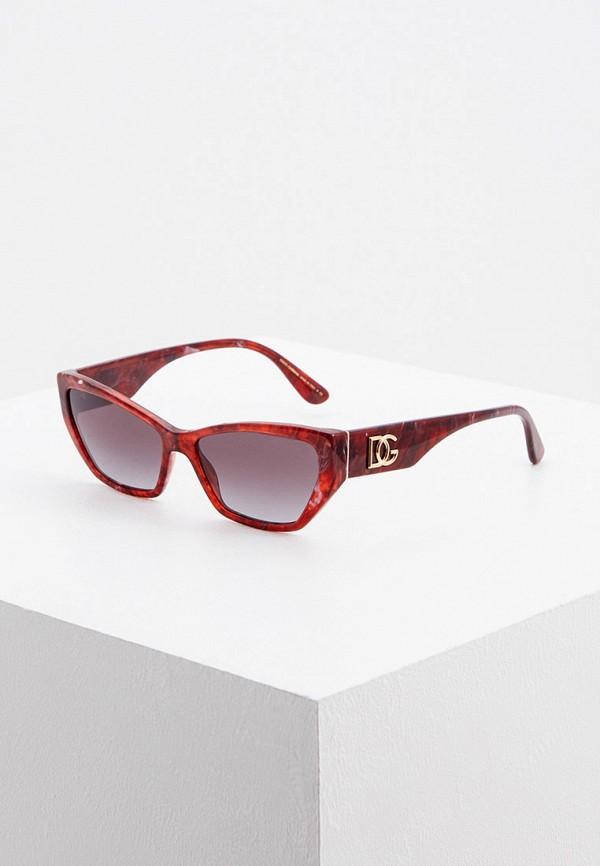 женские квадратные солнцезащитные очки dolce & gabbana, красные