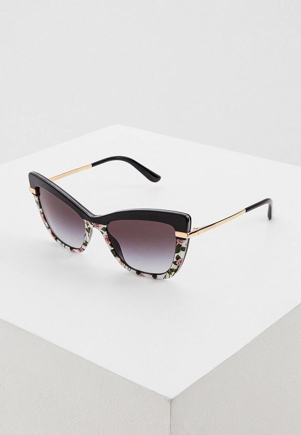 женские солнцезащитные очки кошачьи глаза dolce & gabbana, разноцветные
