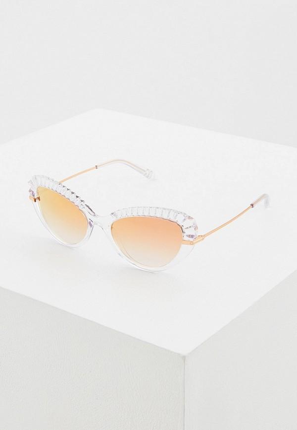 женские солнцезащитные очки кошачьи глаза dolce & gabbana, розовые