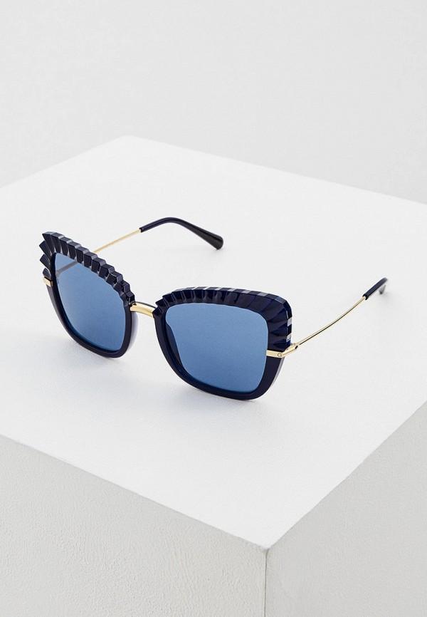 женские солнцезащитные очки кошачьи глаза dolce & gabbana, синие
