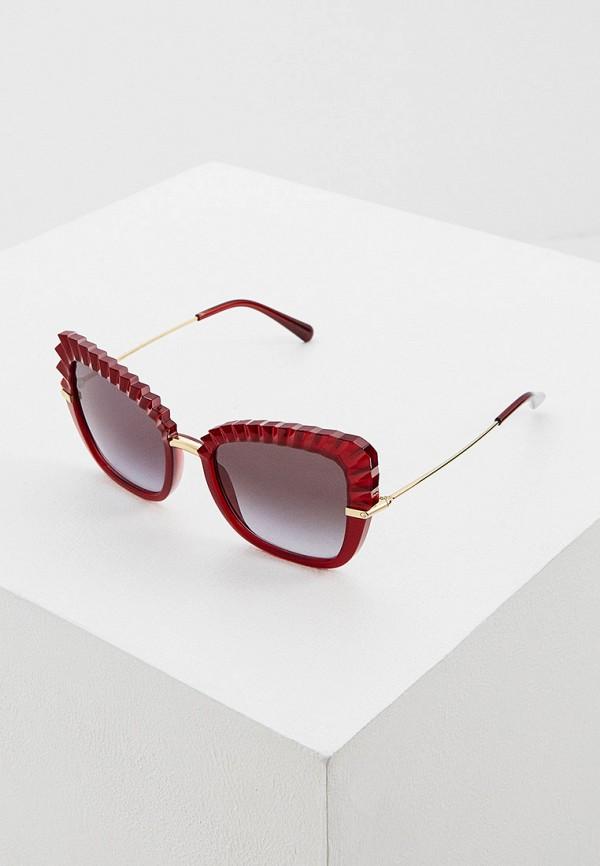 женские солнцезащитные очки кошачьи глаза dolce & gabbana, красные