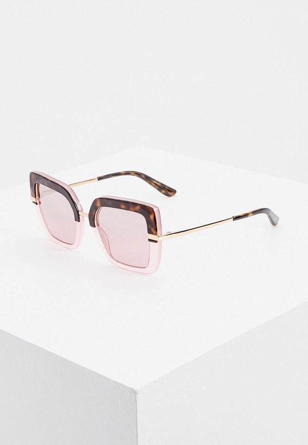 женские квадратные солнцезащитные очки dolce & gabbana, розовые
