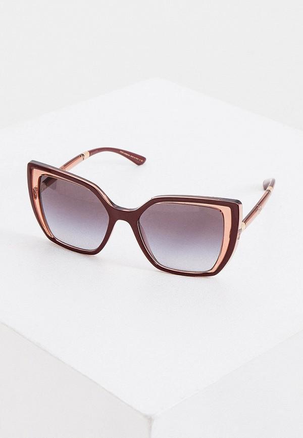 женские солнцезащитные очки dolce & gabbana, коричневые