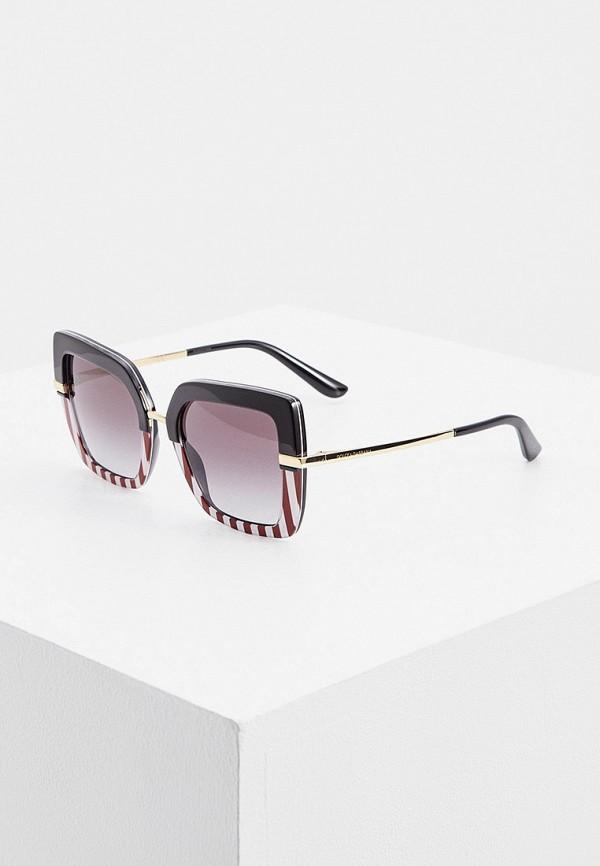женские квадратные солнцезащитные очки dolce & gabbana, разноцветные