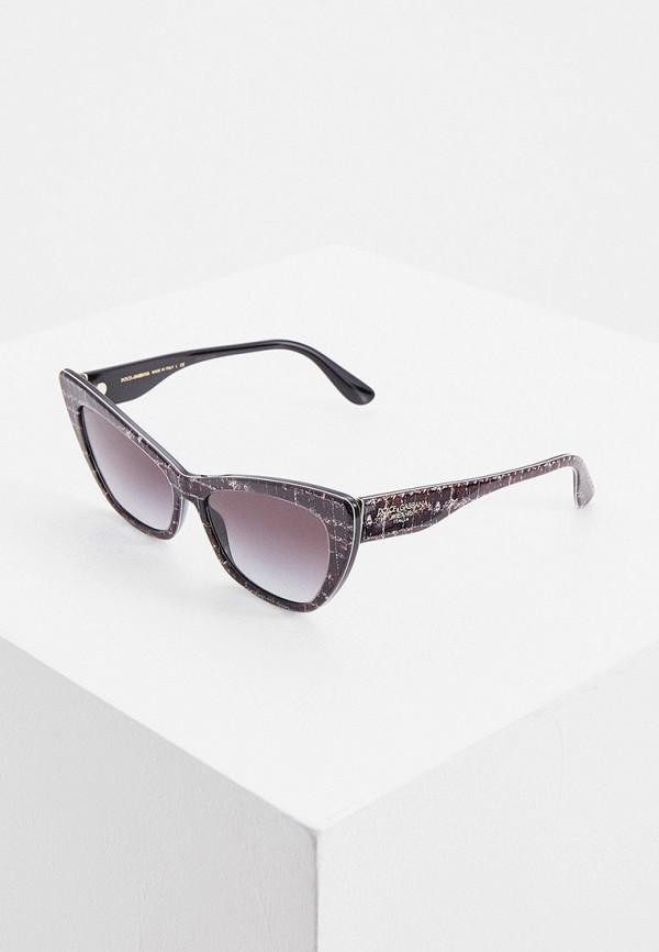 женские солнцезащитные очки кошачьи глаза dolce & gabbana, серые