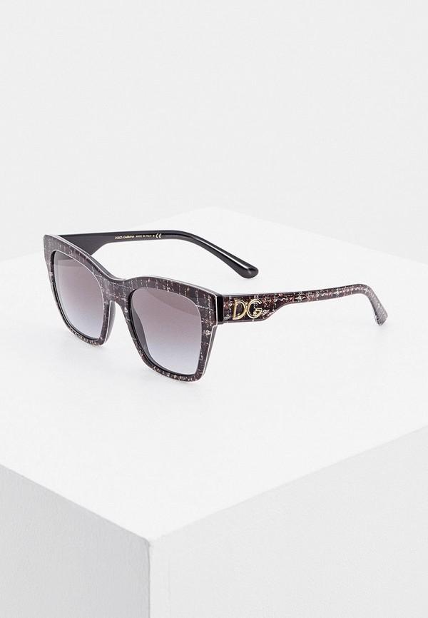 женские квадратные солнцезащитные очки dolce & gabbana, серые