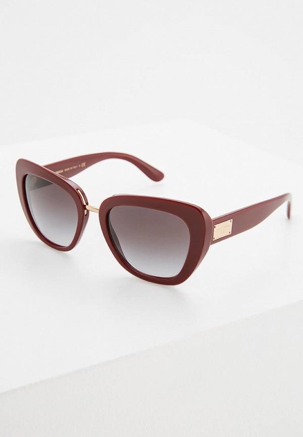 Купить Очки солнцезащитные Dolce&Gabbana бордового цвета