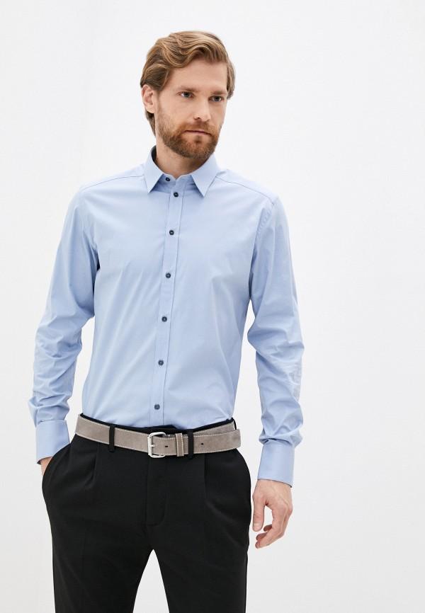 мужская рубашка с длинным рукавом dolce & gabbana, голубая