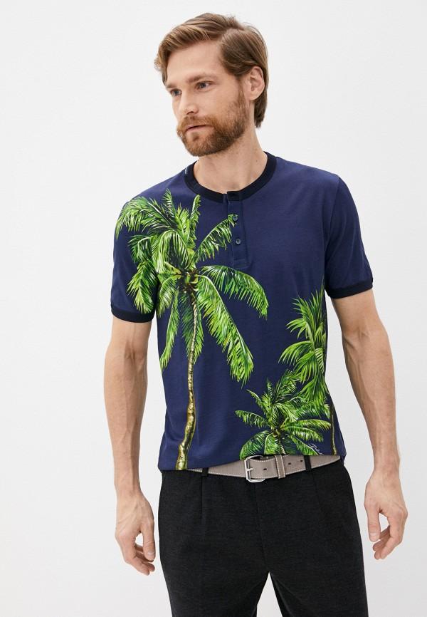 мужская футболка dolce & gabbana, синяя
