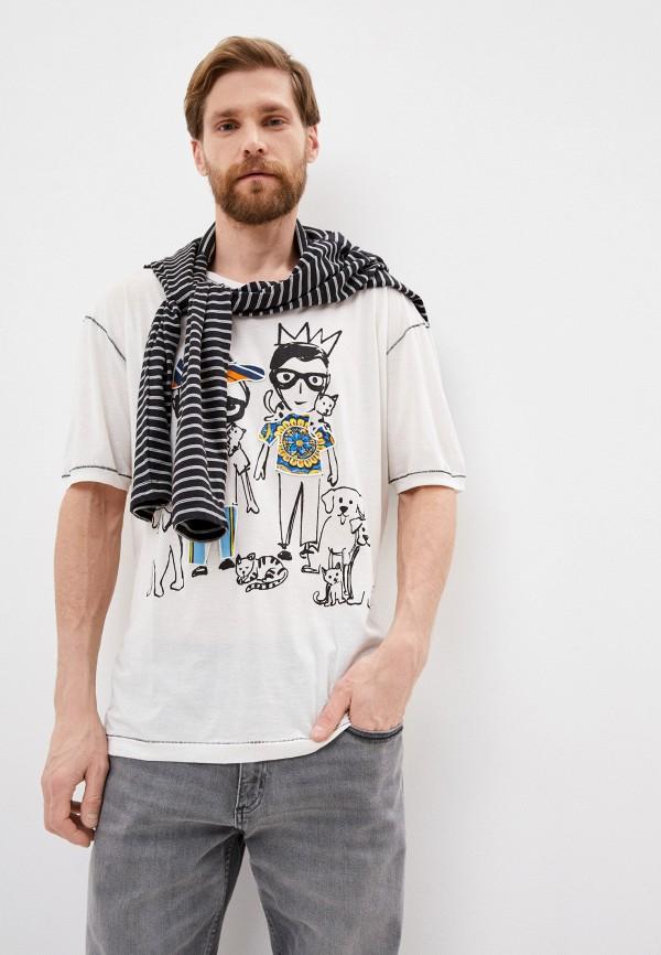 мужская футболка dolce & gabbana, белая