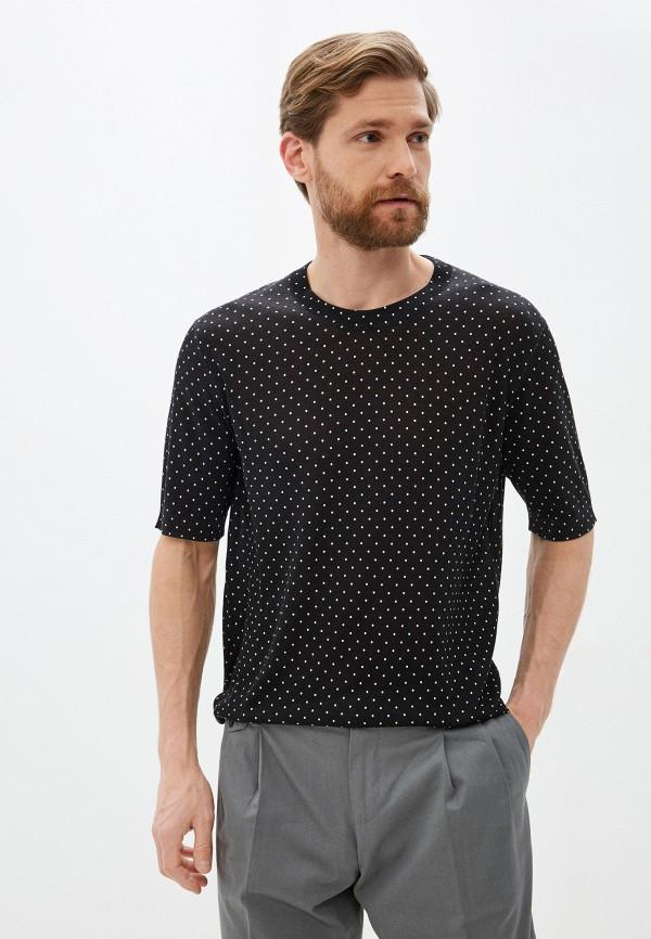 мужская футболка с коротким рукавом dolce & gabbana, черная