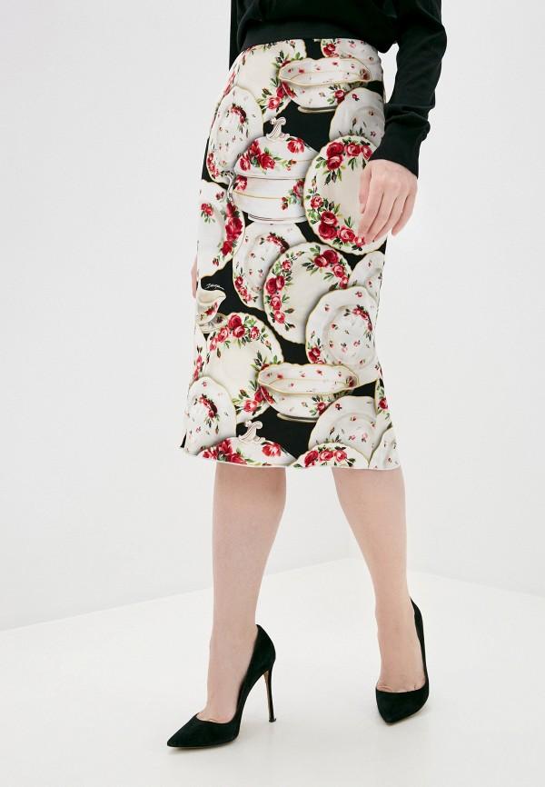 женская прямые юбка dolce & gabbana, разноцветная