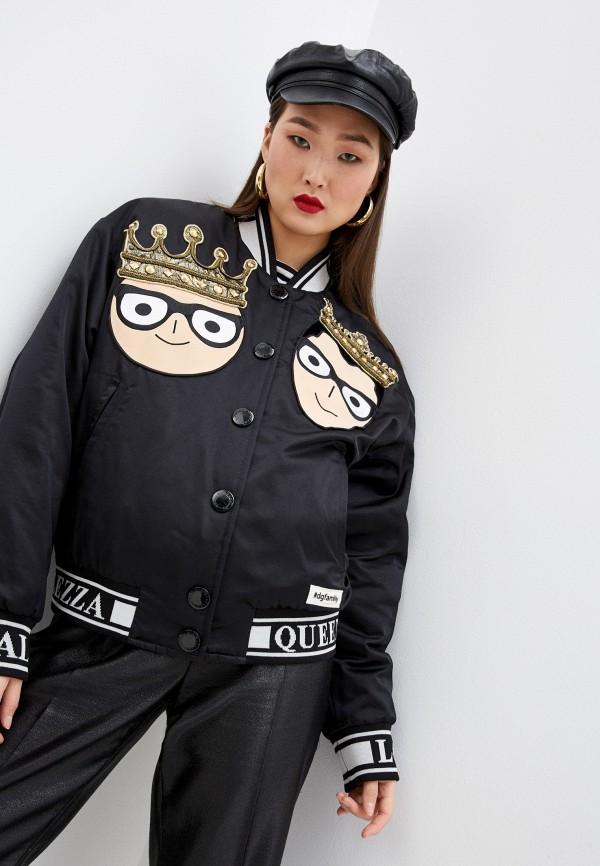 женская куртка dolce & gabbana, черная