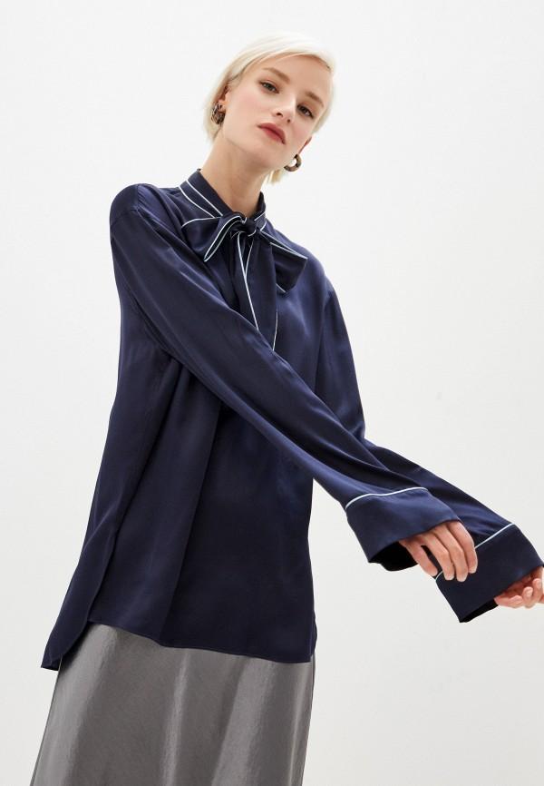 женская блузка dolce & gabbana, синяя