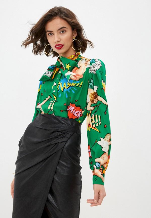 женская блузка dolce & gabbana, зеленая
