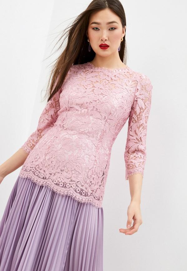 женская кружевные блузка dolce & gabbana, розовая