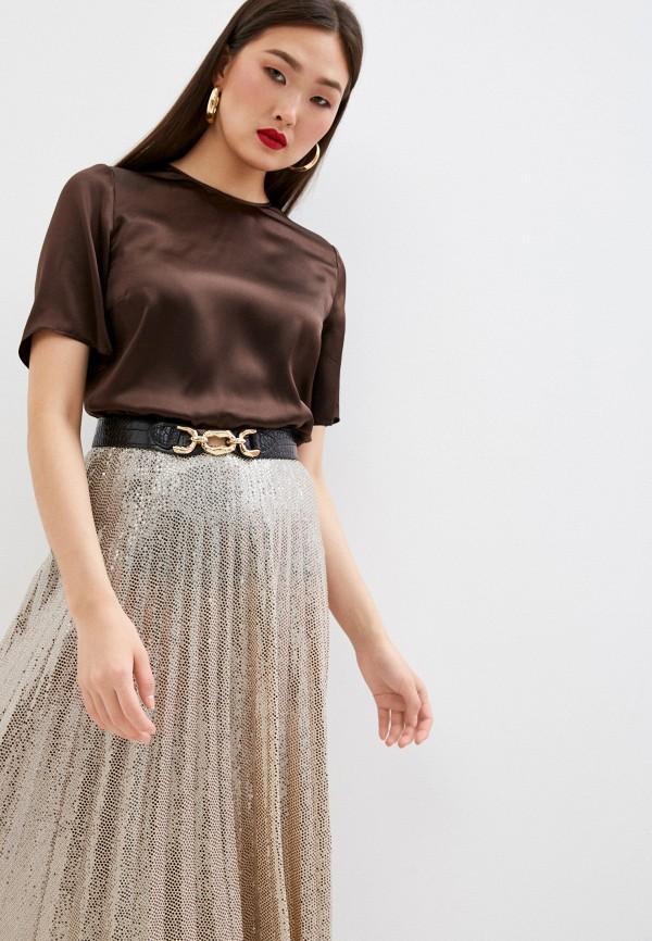 женская блузка dolce & gabbana, коричневая