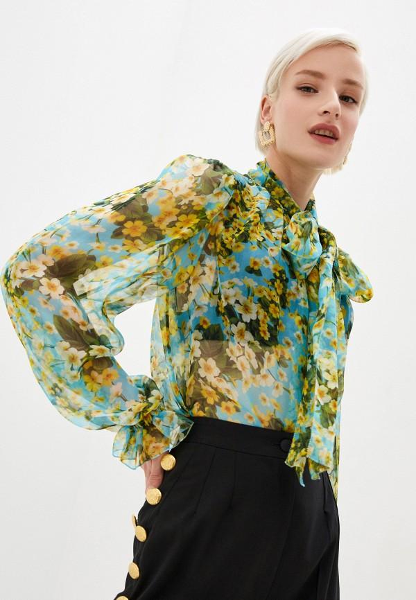 женская блузка dolce & gabbana, разноцветная