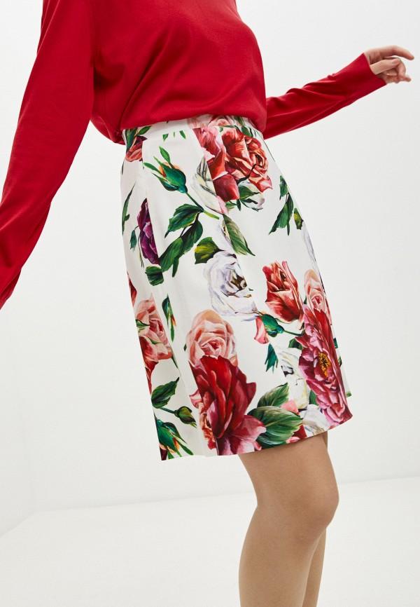женская юбка dolce & gabbana, белая