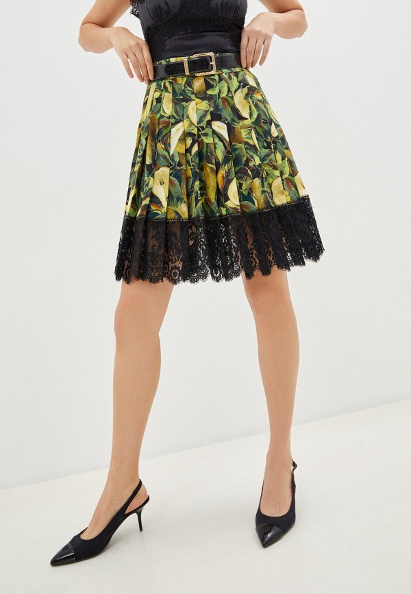 женская юбка dolce & gabbana, зеленая