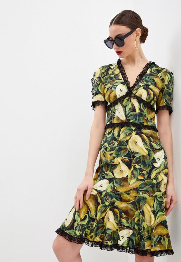 женское повседневные платье dolce & gabbana, зеленое