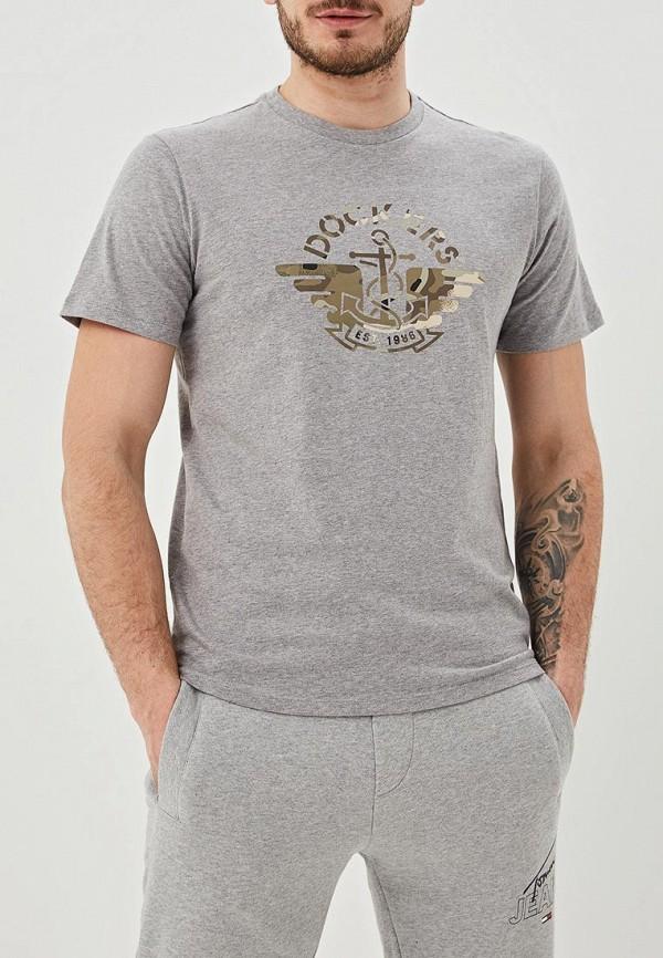 мужская футболка с коротким рукавом dockers, серая