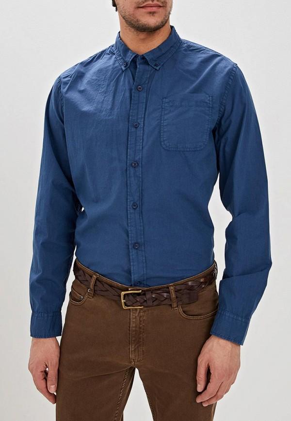 мужская рубашка с длинным рукавом dockers, синяя