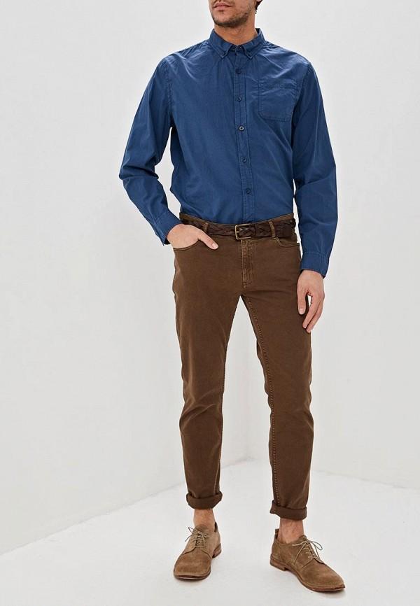 Фото 2 - мужскую рубашку Dockers синего цвета