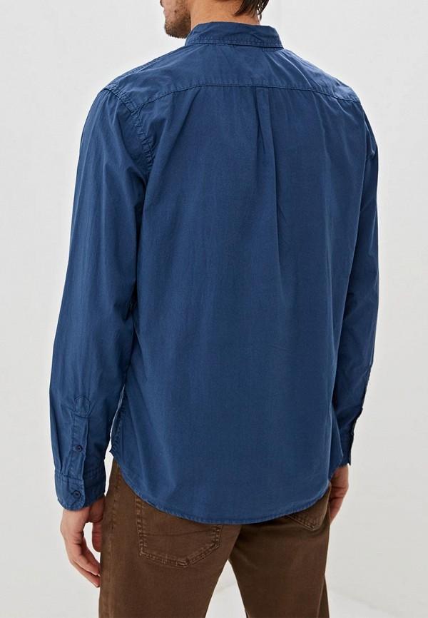 Фото 3 - мужскую рубашку Dockers синего цвета