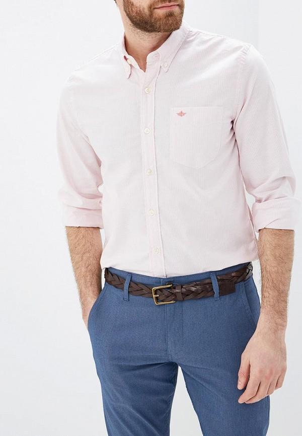 мужская рубашка с длинным рукавом dockers, розовая