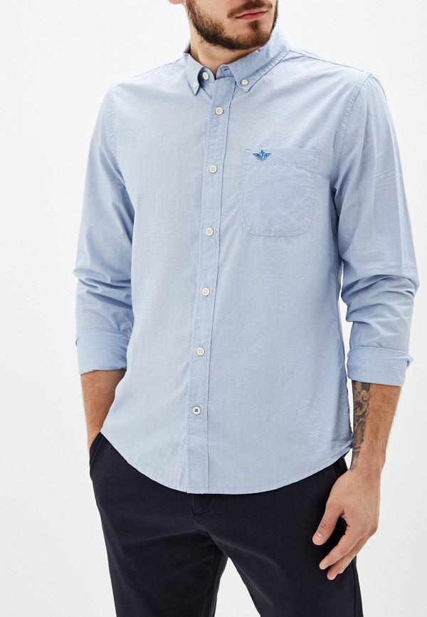 мужская рубашка с длинным рукавом dockers, голубая