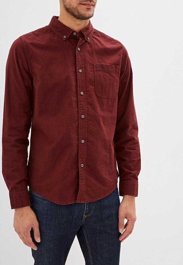 мужская рубашка с длинным рукавом dockers, бордовая