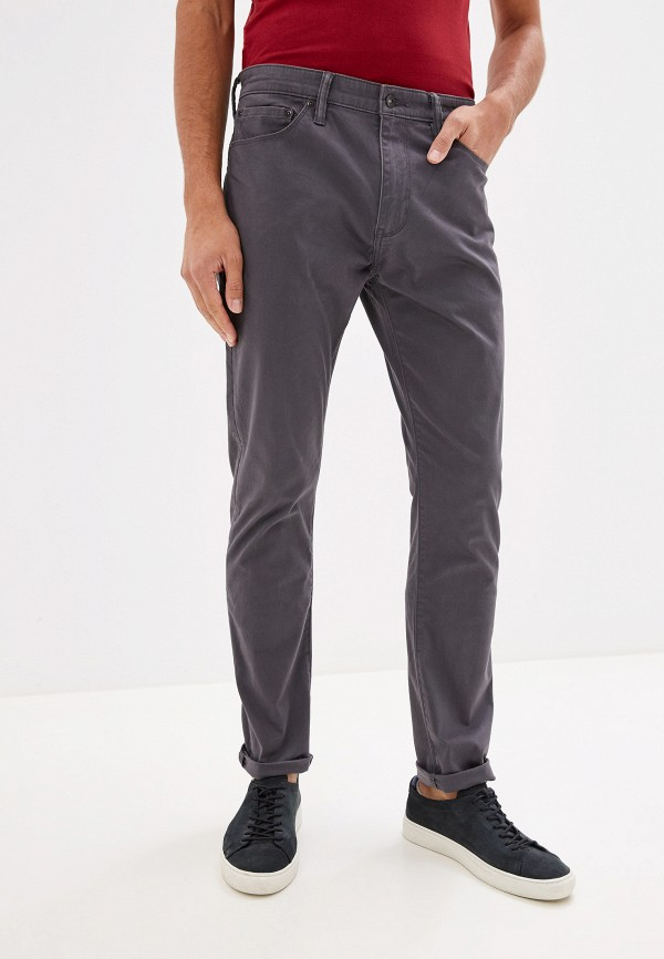 мужские зауженные брюки dockers, серые