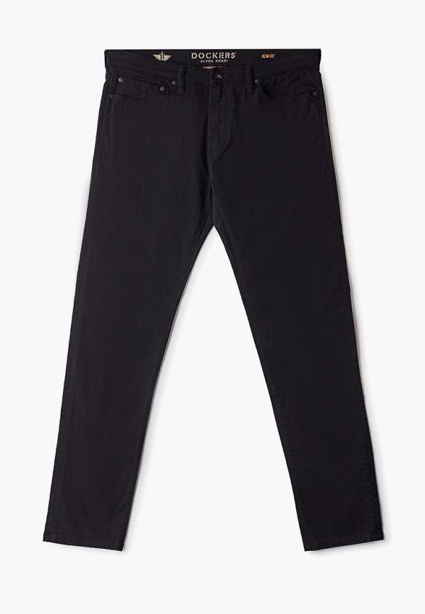 мужские зауженные джинсы dockers, черные